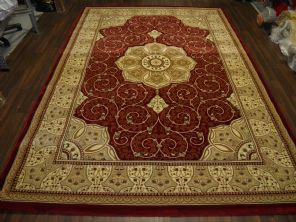 Hand carved woven back traditional rug 350cm X 200cm